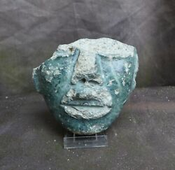 Part Of A Very Nice Stone Mask, Teotihuacan, Mexico, 100-700 Ad