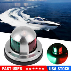 2 In 1 Led Bi Color Bow Navigation Light Stainless Steel Marine Boat Yacht Light