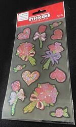 NEW Holographic Stickers Hearts Flowers Valentine Themed FREE SHIP $2.50