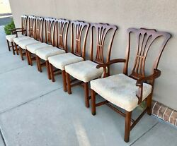 John Widdicomb Set Of 8 Chippendale Style Dining Chairs