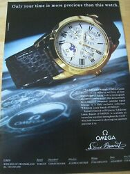 Omega Louis Brandt Watch Time 1991 Poster Advert Ready Frame Approx A4 File R