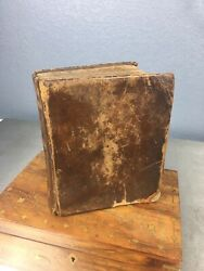 German Biblical Communuions Text Book - Published 1723 - Leatherbound Bible