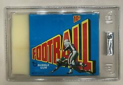1972 Topps NFL Football Series 3 unopened 24 Wax Pack Box graded MINT 9 by GAI!