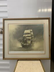 """26 X 22 """"ghosting Along"""" Signed John Kelly Art Print 24/275 W/frame Included"""