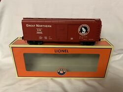 ✅lionel Great Northern Round Roof Box Car 6-81828 O Scale Train Ps-1