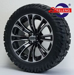 Golf Cart 14 Vector Wheels/rims And 22 And039gatorand039 All Terrain Tires Dot Rated