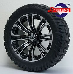 Golf Cart 14 Vector Wheels/rims And 22 'gator' All Terrain Tires Dot Rated