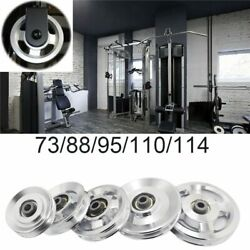Aluminum Lift Heavy Duty Load Bearing Pulley Wheel Cable Fitness Gym Equipment