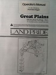 Land Pride 3-point Post Hole Digger Drill Implement 15 25 35 Ser Owners Manual