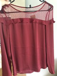 Super Cute! Sexy Lace Deep Red top by EXPRESS- Small $3.00