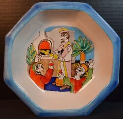 Desimone Italian Pottery Bowl With Picassoesque Figures