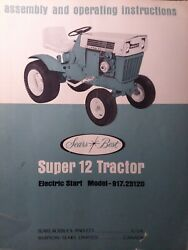 Sears Ss-12 Suburban Super 12 Garden Lawn Tractor Owners Manual 917.25120 Hh120
