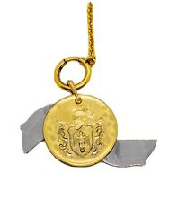 Victorian Liberty Cigar Cutter Watch Key Fob On Chain Gold Filled