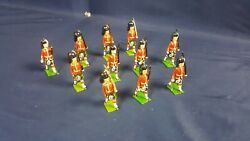 Lot 11 Britains Lead Toy Soldiers Scottish Marching Johill Rifle Left Shoulder