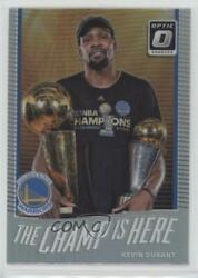2017-18 Panini Donruss Optic The Champ Is Here Holo Silver Prizm Kevin Durant 1