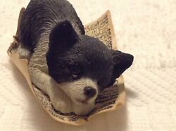 "Vintage Sandicast ""PESKY PEEPERS"" CHIHUAHUA B03 1990 Signed Hand CastPainted"