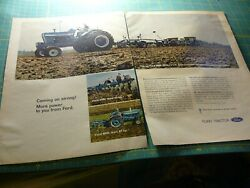 The Farm Quarterly -ad- Fall 1968- Ford Tractors 4000 5000 8000 2-page