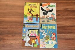 4 Vintage Bugs Bunny Daffy Duck Gold Key Comic Books 1969 1977 Silver Bronze Age