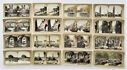Lot Antique 16pc Italy Stereoviews Rome Tinted Coliseum Capuchin Venice