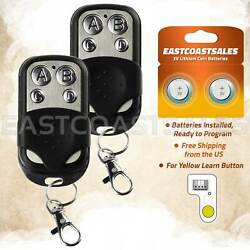 2 For Chamberlain Liftmaster Craftsman Garage Door Opener Remote 893lm Keychain