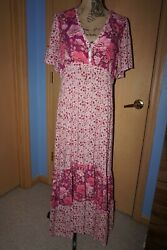 Spell And Gypsy Collective Winona Berry Dress Size L Rare