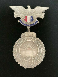 1930- Silver San Francisco California State Aerie Convention Foe Medal/ Badge