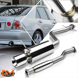 For 01-05 Is300 Altezza Xe10 2jz 4rolled Tip Muffler S.s Catback Exhaust System