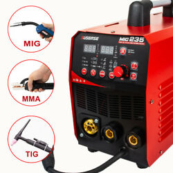 110/220v 235a Mig Welder Gas Less Flux Core Wire Automatic Feed Welding Machine