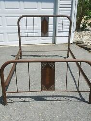 Vintage Iron/steel Bed Frame 1940s-all Original-standard Full/double Size