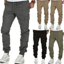 Menand039s Casual Joggers Pants Sweatpants Cargo Combat Loose Active Sports Trousers