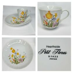 Vintage Stoneware Hearthside Petit Floras S-1422 Japan Tea Cup And Fitted Plate