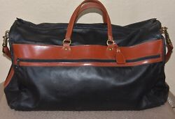 GLASER DESIGNS San Francisco Authentic Black Leather Stadium Bag  $799.00