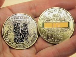 Vietnam Veteran Collectible Challenge Coin All Gave Some Some Gave All.
