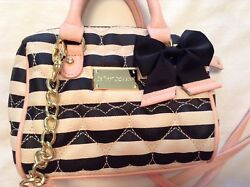 Betsey Johnson Striped Quilted Crossbody Small Purse $21.95