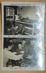 1944 Vintage Wwii Rppc Photo Soldier Waffles Free Mail Red Cross Boas To Keim