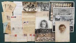 Lot 1904+ Antique Dimmig Family Ephemera Photos Report Cards East Greenville Pa