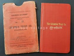 1912 Antique Columbia Trust Co. Savings Account Bank Book 18 Pa Moyer