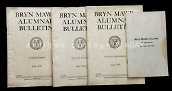 Lot 1932 Antique Bryn Mawr College Alumnae Bulletin Commencement Hunter Colwin