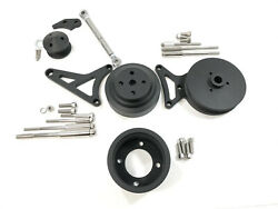 79-93 Ford Mustang 5.0l Pulley And Bracket Kit Serpentine Billet Aluminum Cnc