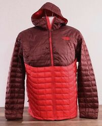 The North Face Men's XL Thermoball Full Zip Jacket Puffer Red Hoodie Coat NWT $29.00