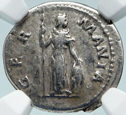 Hadrian Travels To Germania Germany Ancient 134ad Silver Roman Coin Ngc I85494
