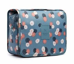 NEW Daisy Mint Hanging Travel Toiletry Makeup Pouch Bag Case Cosmetic Floral $12.99