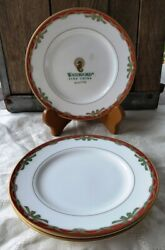 Waterford Holiday Ribbons Side/bread Plates Set Of 3 - New Original Dead Stock