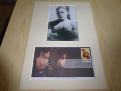 Joe Louis The Brown Bomber Boxing Photograph And Usa Fdc Mount Size A4