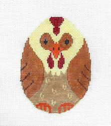 The Chicken Or The Egg ... Ornament Handpainted Needlepoint Canvas Susan Roberts
