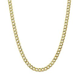 Leslie's Real 10kt 7.0mm Semi-solid Curb Link Chain 18 Inch