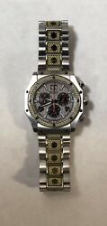 Nicolet 1886 Mens Watch Swiss Chronograph All S/s Sapphire Crystal W/r 5 Atm