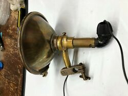 Vintage Brass Searchlight Early Search Spot Lamp Light 1917 Car Truck Motorcycle