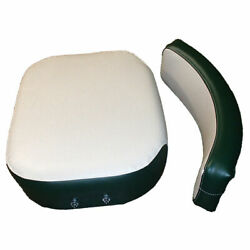 One New Green And White Seat Cushion Set Fits Various Oliver Models