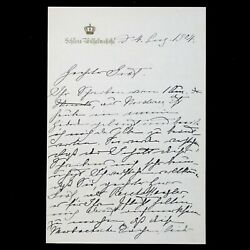 1904 German Royalty Empress Victoria Royal Queen Signed Document Letter Germany